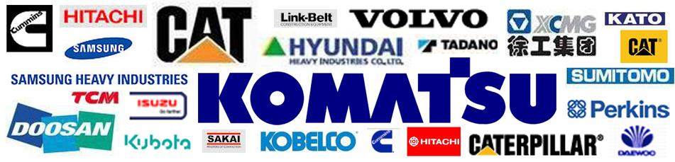 Komatsu CAT Caterpillar Cummins Mitsubishi Hitachi Samsung Hyundai Volvo Perkins XCMG Daewoo Doosan Kobelco